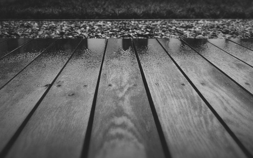 terrasplanken zwart-wit